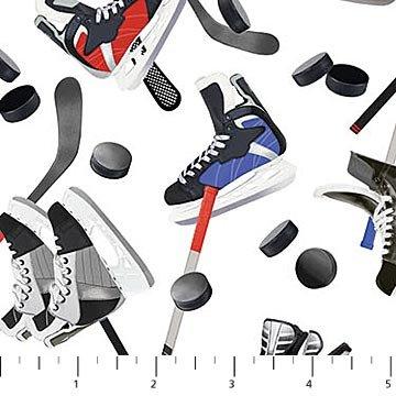 All Star Hockey - Skates & Sticks - White/Multi