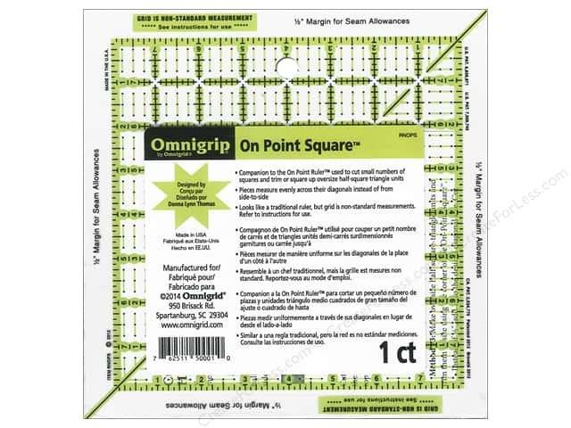 Square Omnigrip Ruler - On Point Square