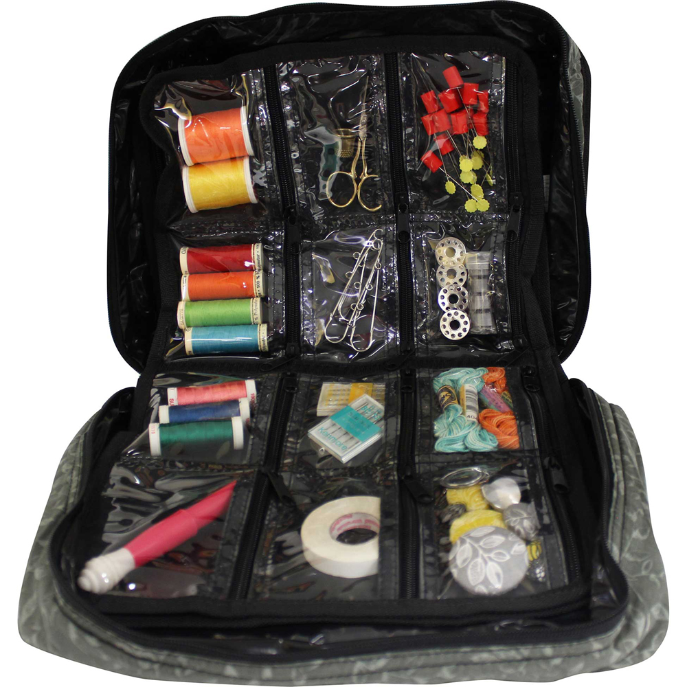 Craft & Accessory Tote Inserts - 12 pockets - Black