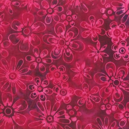 Anthology Bali - Flowers - Dk Pink
