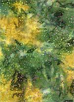 Batik Textiles - Dots - Green/Multi