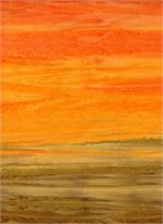 Batik Textiles - Stripe - Orange/Yellow/Brown