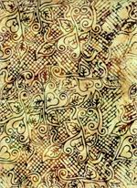 Batik Textiles - Hearts - Cream/Burgandy