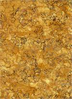 Batik Textiles - Flowers - Gold/Multi