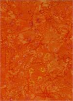 Batik Textiles - Flowers - Orange