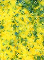 Batik Textiles - Shapes - Yellow/Blue