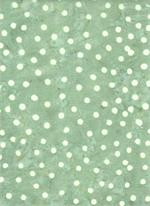 Batik Textiles - Dots - Grey/White