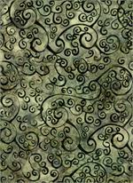 Batik Textiles - Scroll - Lt Brown