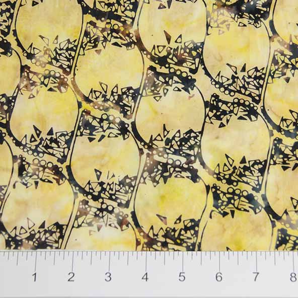 Bayan Batiks - Texture - Yellow/Black