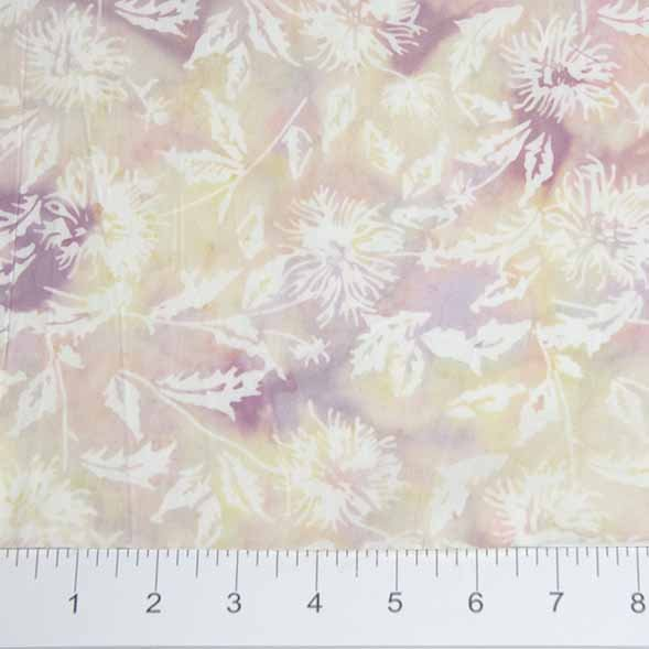 Bayan Batiks - Leaves - Lt Pink/White