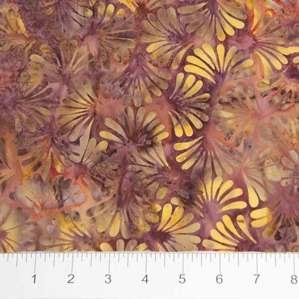 Bayan Batiks - Floral - Orange/Yellow