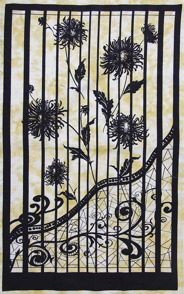 Bayan Batiks - Shattered Glass - Panel - Yellow
