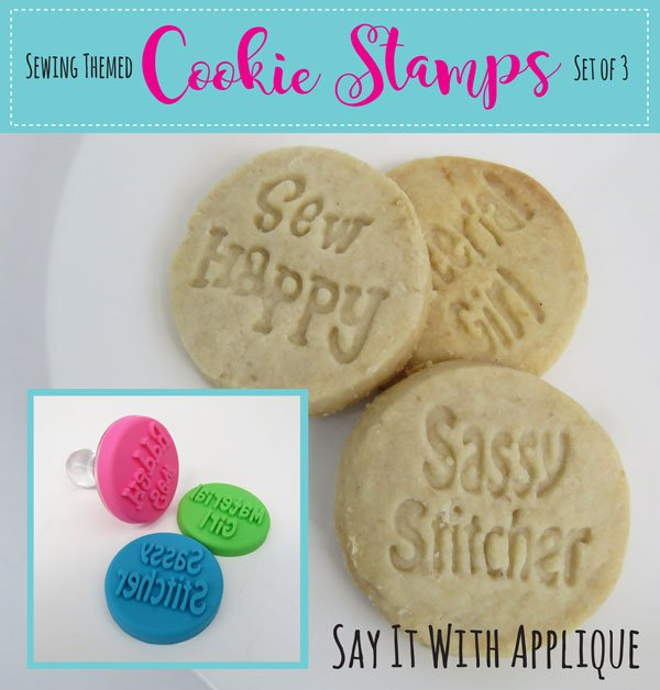 Cookie Stamps - Sewing Themed - Set Of 3