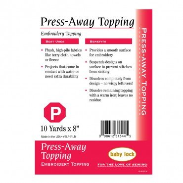 Babylock Stabilizer - Press-Away Topping - 8x10 yards