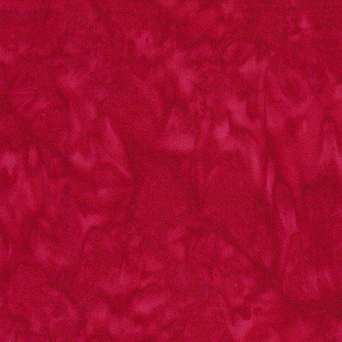 Celestial Batiks Bali - Watercolour - Deep Red