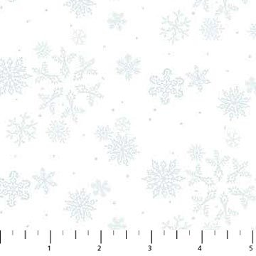 Enchanted Forest Flannel - Snowflakes -White/Lt Blue
