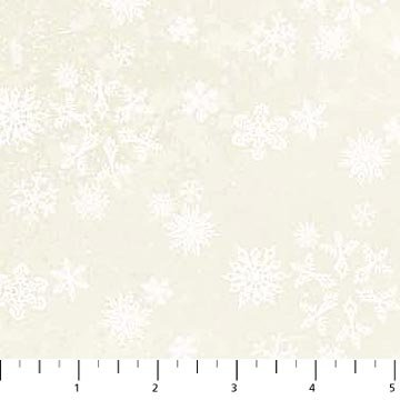 Enchanted Forest Flannel - Snowflakes -White/White
