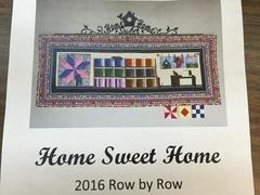 Row By Row - Home Sweet Home - 2016