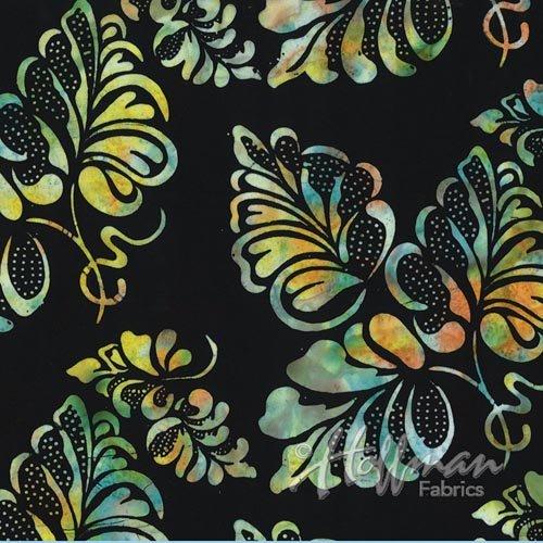 Hoffman Bali  - Leaves - Black/Multi