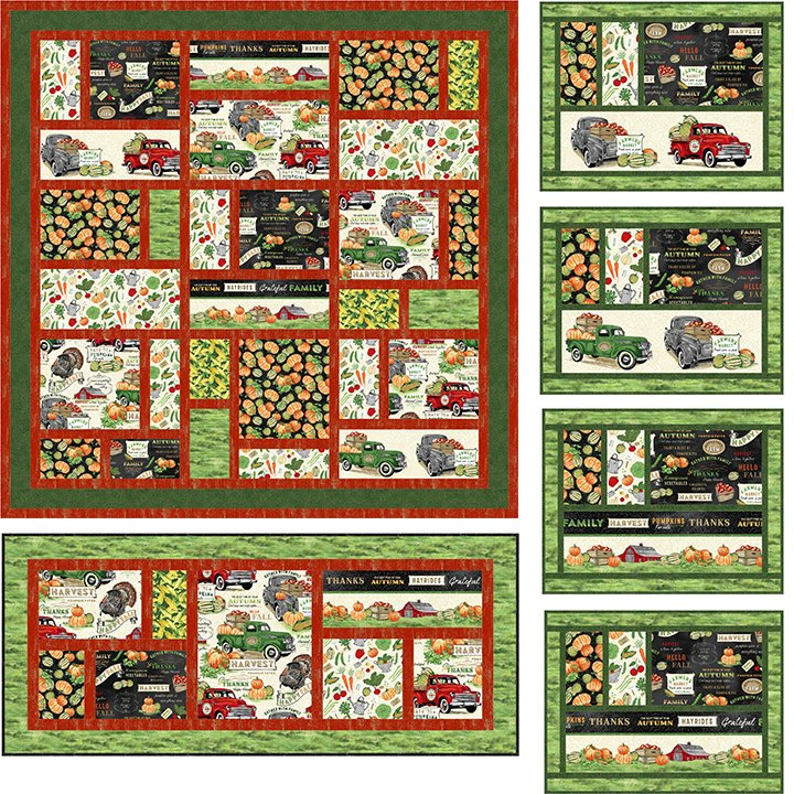 Kit - Farm Fresh (4 Place Mats and Table Topper)