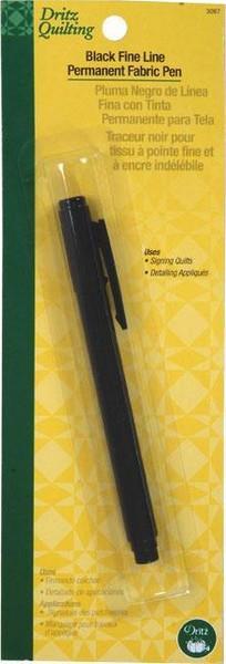 Black Fine Line Permanent Fabric Pen
