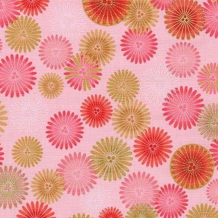 Satsuki 4 - Flowers - Pink/Gold