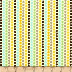Zoo Baby Flannel - Dots - Yellow/Multi