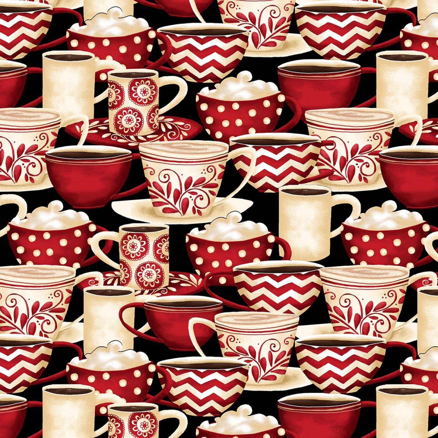 Morning Coffee - Cups - Black/Red