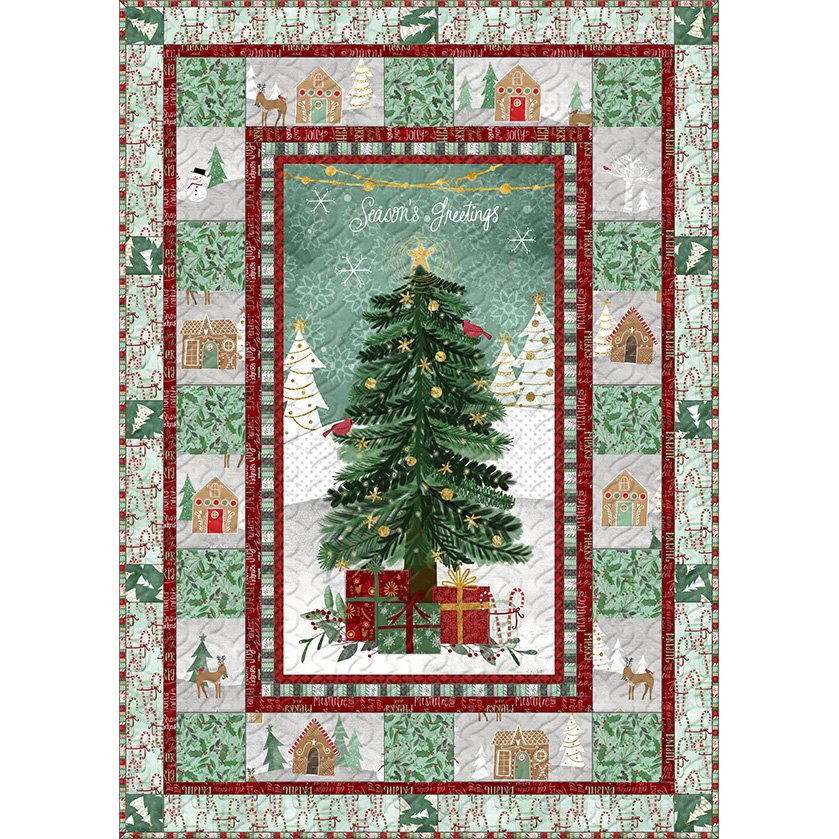 Kit - Frosted Holiday - Wall Quilt
