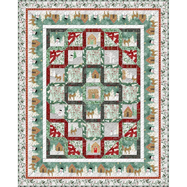 Kit - Frosted Holiday - Twin Quilt