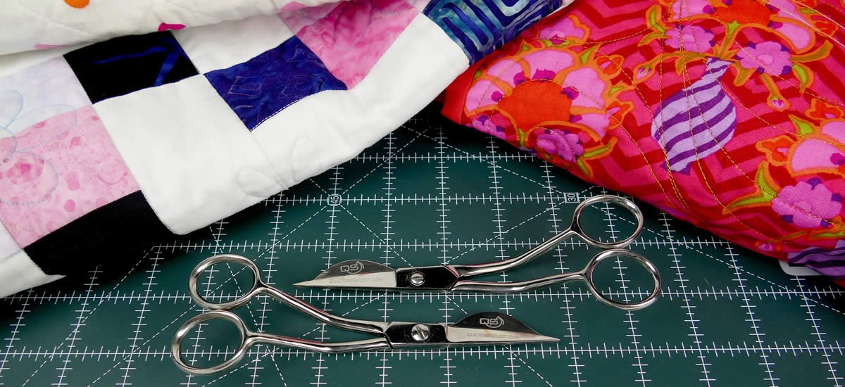 QSTOOL1-L Quilters Select Wave Applique Scissors- Left Hand