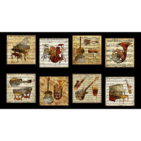 Encore by Quilting Treasures Panel 1649-27021-J