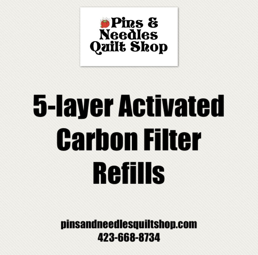 Activated Carbon Charcoal Filter- REFILL Set of 2