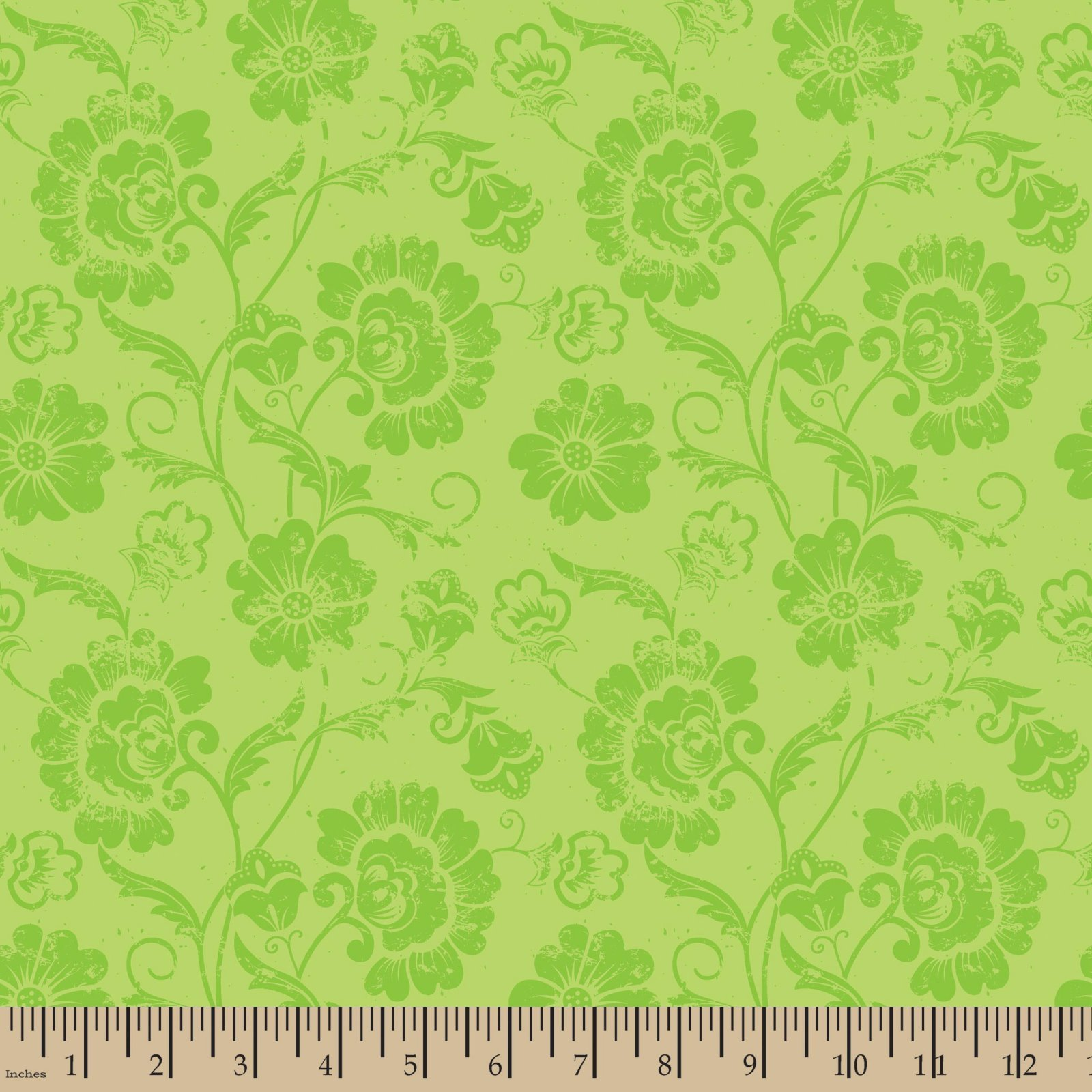 Aged Floral Lime Patrick Lose
