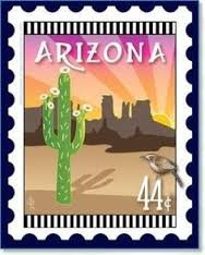 Arizona State Stamp 6x 7 Panel Zebra Patterns