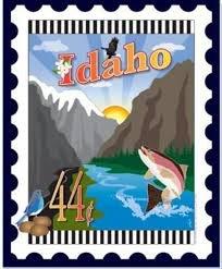 Idaho State Stamp 6x 7 Panel Zebra Patterns