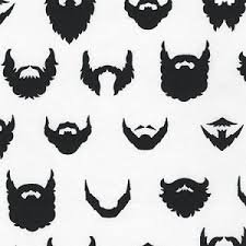 Brilliant Beards by Robert Kaufman-ACY-15021-1 WHITE