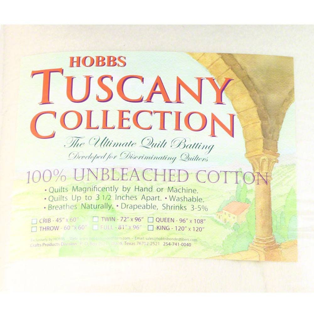 Hobb's Tuscany Batting Unbleached Cotton Full 81''x96''
