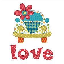 Applique Elementz Love Bug