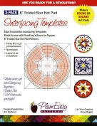 12 Pack Plum Easy Interfacing Templates- 8 in. Folded Star Hot Pad