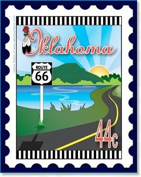 Oklahoma State Stamp 6x 7 Panel Zebra Patterns