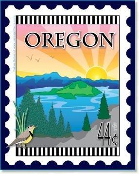 Oregon State Stamp 6x 7 Panel Zebra Patterns