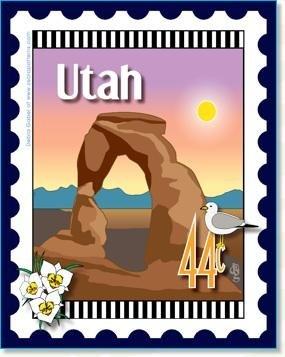 Utah State Stamp 6x 7 Panel Zebra Patterns