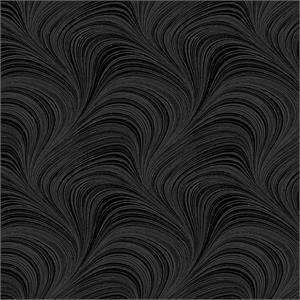 Wave Texture Black Wide Back