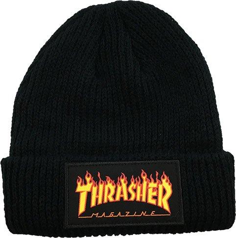 Thrasher Flame Logo Beanie Black