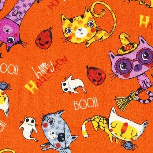 Fabri-Quilt, INC Trick or Treat Scary Cats