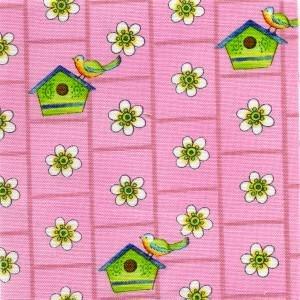 Clothworks Tweet Street Y0453-42 Pink