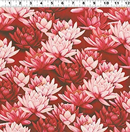Clothworks - Water Lillies - Red