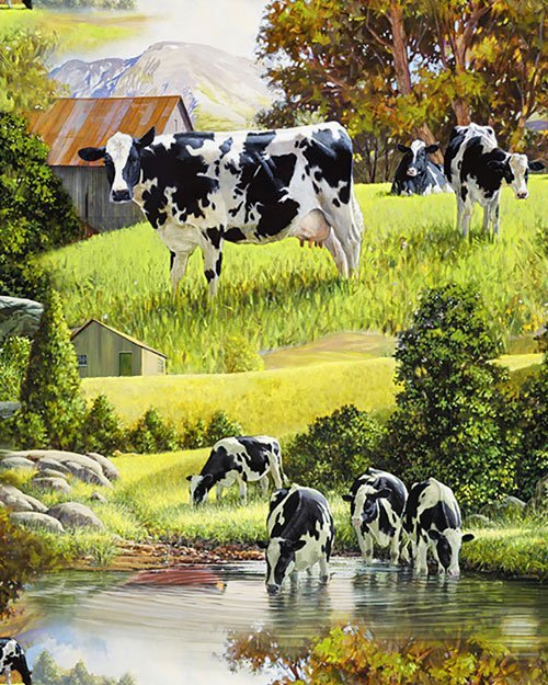 David Textiles - Cows at the River
