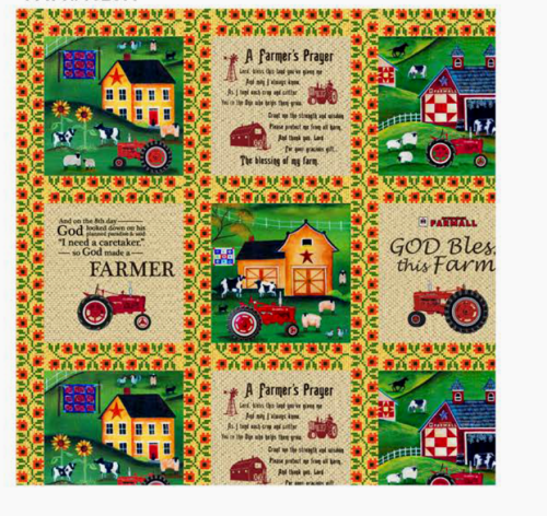 Print Concepts, Inc. - Farmall Folk Art Sampler Cotton